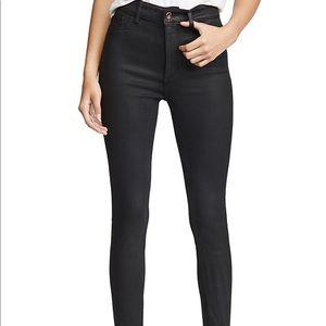 DL 1961 hi-rise coated skinny jeans